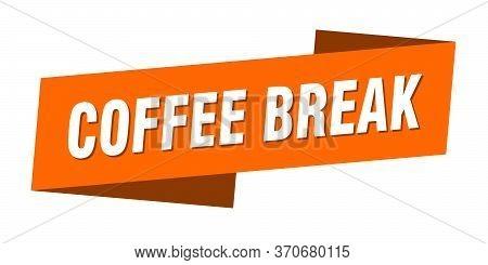 Coffee Break Banner Template. Coffee Break Ribbon Label Sign