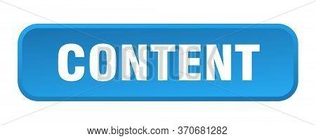 Content Button. Content Square 3d Push Button
