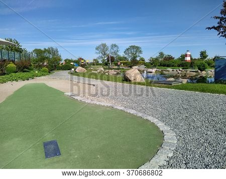 Meeschendorf/fehmarn, Germany - 05/26/2020: The New Adventure Golf At Meeschendorf, Germany