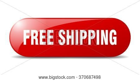 Free Shipping Button. Free Shipping Sign. Key. Push Button.