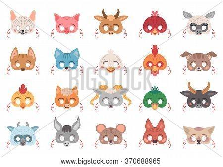 Masquerade Set Of Animal Masks For Costume