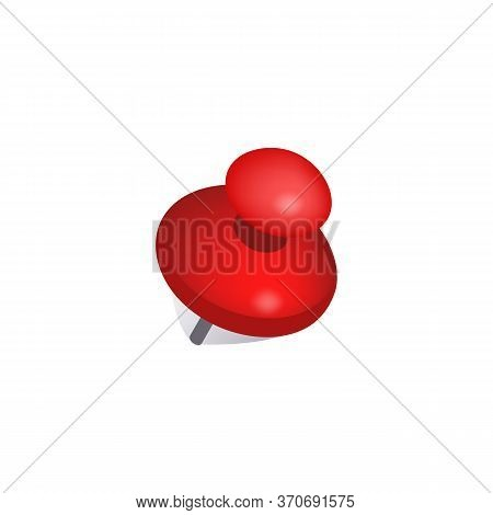 Red Pushpin Illustration. Note, Message, Office Supply. Advertising Concept. Illustration Can Be Use