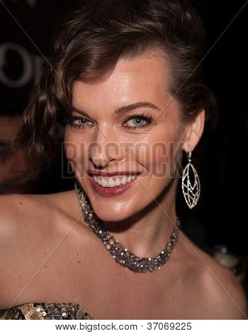MOSCOW, RUSSIA,SEPTEMBER, 6: Actress Milla Jovovich. Premiere of the movie