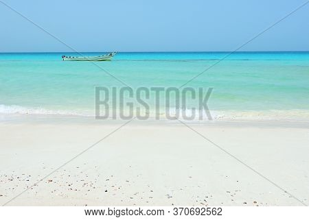 Beautiful Ras Shuab Beach In Socotra, Unesco World Heritage Site Since 2008 For Its Biodiversity. Ye