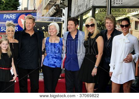 LOS ANGELES - SEP 17: Gary LeVox, Jay DeMarcus, JoeDon Rooney at a ceremony where the band Rascal Flatts receive a star on the Hollywood Walk of Fame on September 17, 2012 in Los Angeles, California