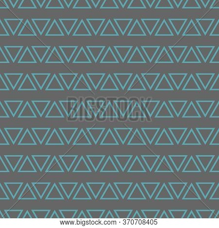 Tile Vector Pattern With Mint Blue Triangles On Pastel Grey Background For Seamless Decoration Wallp