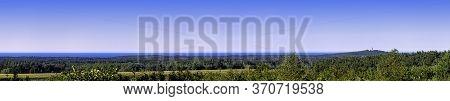 Panoramic View Of Polish Seacoast With Lighthouse In Background - Stilo, Pomerania, Poland