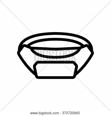 Waist Bag For Carry Phone Icon Vector. Waist Bag For Carry Phone Sign. Isolated Contour Symbol Illus