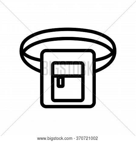 Waist Bag Belt Icon Vector. Waist Bag Belt Sign. Isolated Contour Symbol Illustration