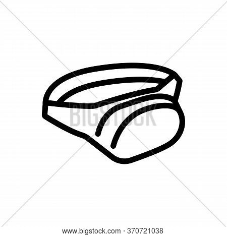 Waist Bag Accessory Icon Vector. Waist Bag Accessory Sign. Isolated Contour Symbol Illustration