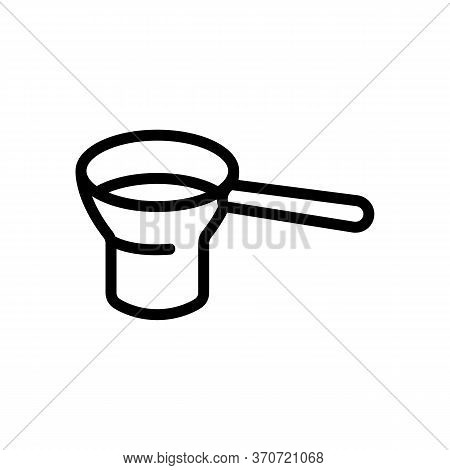 Sieve For Filter Flour Icon Vector. Sieve For Filter Flour Sign. Isolated Contour Symbol Illustratio