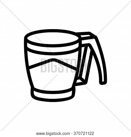Cup Kitchen Utensil Icon Vector. Cup Kitchen Utensil Sign. Isolated Contour Symbol Illustration