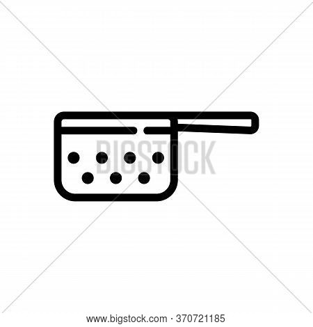 Sieve Cuisine Appliance Icon Vector. Sieve Cuisine Appliance Sign. Isolated Contour Symbol Illustrat