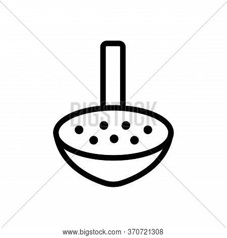 Sieve Kitchen Ware Icon Vector. Sieve Kitchen Ware Sign. Isolated Contour Symbol Illustration