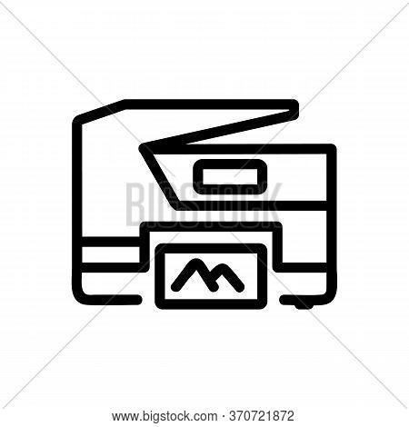 Photocopier Photo Printing Device Icon Vector. Photocopier Photo Printing Device Sign. Isolated Cont