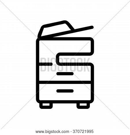 Multifunctional Printer Icon Vector. Multifunctional Printer Sign. Isolated Contour Symbol Illustrat