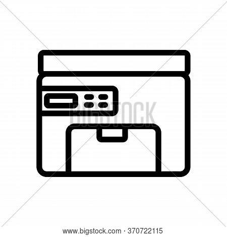Printer Fax Electronic Equipment Icon Vector. Printer Fax Electronic Equipment Sign. Isolated Contou