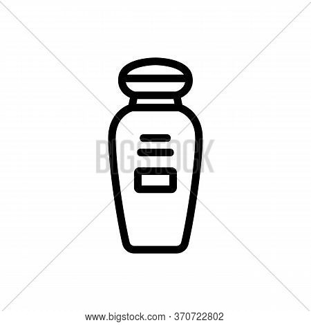 Makeup Remover Cosmetic Lotion Icon Vector. Makeup Remover Cosmetic Lotion Sign. Isolated Contour Sy
