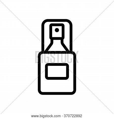 Makeup Remove Skin Care Spray Icon Vector. Makeup Remove Skin Care Spray Sign. Isolated Contour Symb