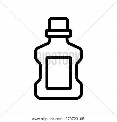 Makeup Remover Liquid Container Icon Vector. Makeup Remover Liquid Container Sign. Isolated Contour