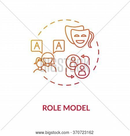 Role Model Concept Icon. Respected Mentor, Parent Figure, Authority Person Idea Thin Line Illustrati