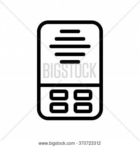 Intercom Security Device Icon Vector. Intercom Security Device Sign. Isolated Contour Symbol Illustr