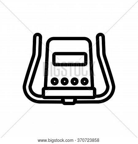 Exercise Bike Rudder Icon Vector. Exercise Bike Rudder Sign. Isolated Contour Symbol Illustration