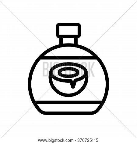 Coconut Aromatic Shampoo Icon Vector. Coconut Aromatic Shampoo Sign. Isolated Contour Symbol Illustr