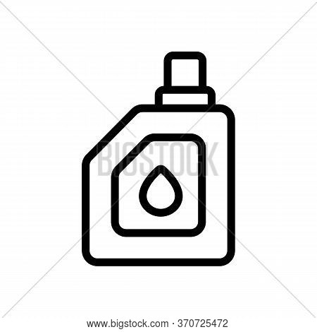 Engine Oil Canister Icon Vector. Engine Oil Canister Sign. Isolated Contour Symbol Illustration