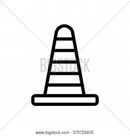Cone Car Accessory Icon Vector. Cone Car Accessory Sign. Isolated Contour Symbol Illustration