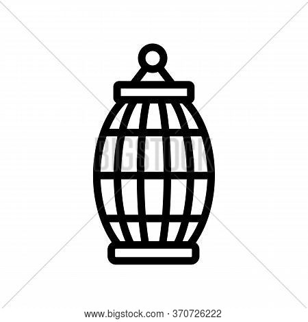 Cage For Gouldian Finch Icon Vector. Cage For Gouldian Finch Sign. Isolated Contour Symbol Illustrat