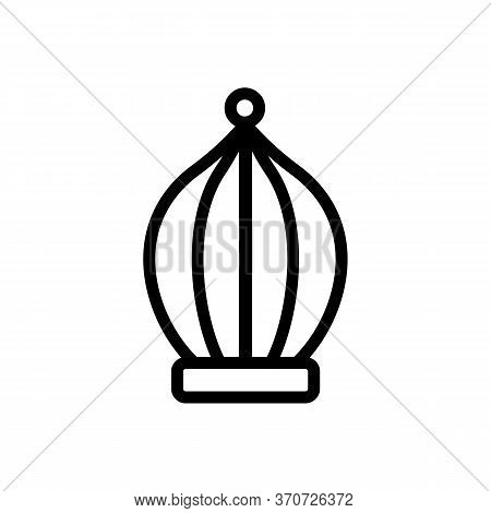 Cage For Domestic Canary Icon Vector. Cage For Domestic Canary Sign. Isolated Contour Symbol Illustr