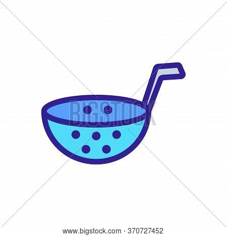 Kitchen Strainer Icon Vector. Kitchen Strainer Sign. Isolated Color Symbol Illustration