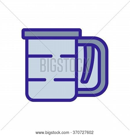 Sieve With Flour Icon Vector. Sieve With Flour Sign. Isolated Color Symbol Illustration