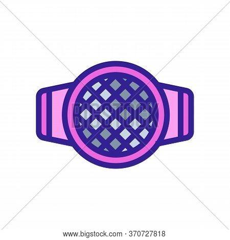 Sieve Kitchen Utensil Icon Vector. Sieve Kitchen Utensil Sign. Isolated Color Symbol Illustration
