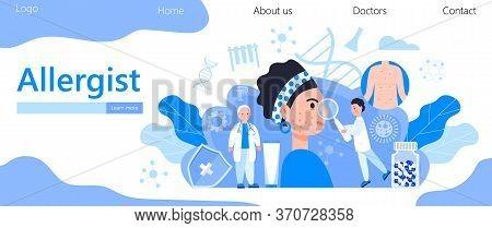 Allergist Concept For Medical Websites And Landing Pages, Blog. Disease Of The Skin And Dermatologic