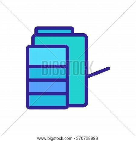 Multifunctional Photocopier Icon Vector. Multifunctional Photocopier Sign. Isolated Color Symbol Ill