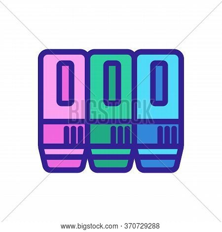 Ink Cartridges For Printer Icon Vector. Ink Cartridges For Printer Sign. Isolated Color Symbol Illus