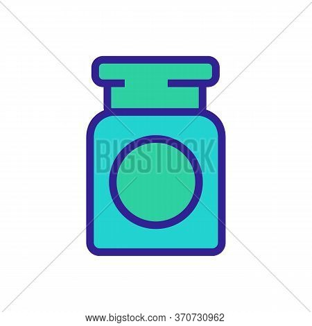Makeup Remover Cosmetology Container Icon Vector. Makeup Remover Cosmetology Container Sign. Isolate