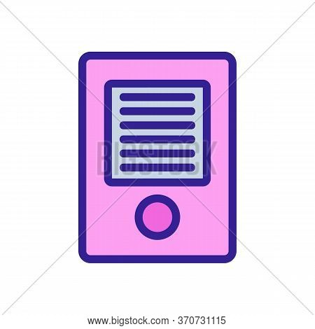 Intercom Entrance Device Icon Vector. Intercom Entrance Device Sign. Isolated Color Symbol Illustrat