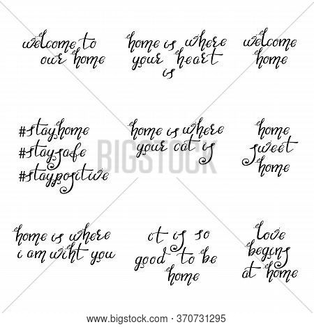 Lettering Typography Poster. Calligraphic Quotes For Posters, Home Decorations, Cards. Motivational