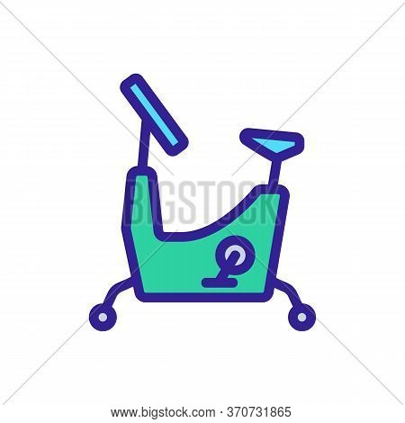 Exercise Bike Athletic Equipment Icon Vector. Exercise Bike Athletic Equipment Sign. Isolated Color