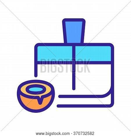 Coconut Perfume Icon Vector. Coconut Perfume Sign. Isolated Color Symbol Illustration