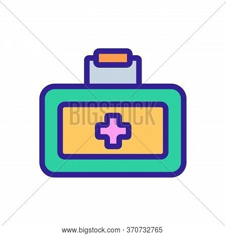 First Aid Kit Car Accessory Icon Vector. First Aid Kit Car Accessory Sign. Isolated Color Symbol Ill