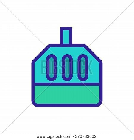 Confined Birdcage Icon Vector. Confined Birdcage Sign. Isolated Color Symbol Illustration
