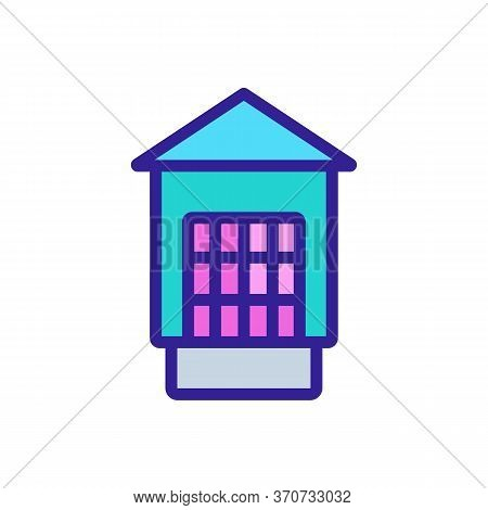 Cage With Feeding Trough Icon Vector. Cage With Feeding Trough Sign. Isolated Color Symbol Illustrat