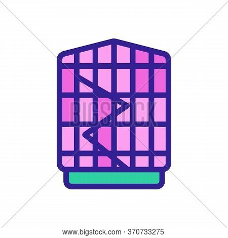 Cage For Parrot Bird Icon Vector. Cage For Parrot Bird Sign. Isolated Color Symbol Illustration