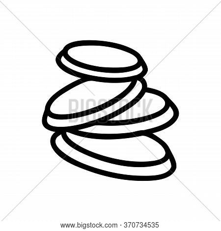 Turnip Sliced Pieces Icon Vector. Turnip Sliced Pieces Sign. Isolated Contour Symbol Illustration