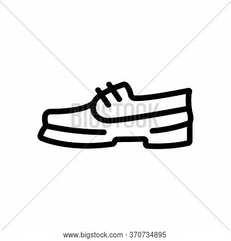 Hiking Boot Icon Vector. Hiking Boot Sign. Isolated Contour Symbol Illustration