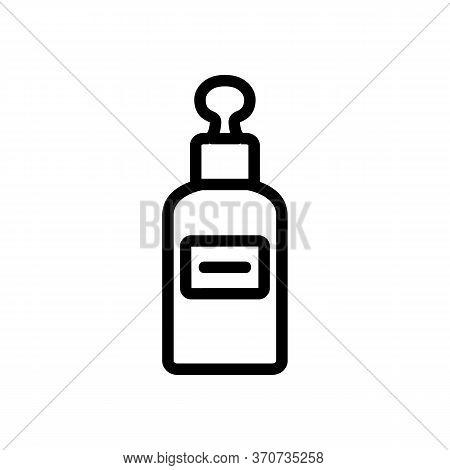 Skincare Serum Icon Vector. Skincare Serum Sign. Isolated Contour Symbol Illustration